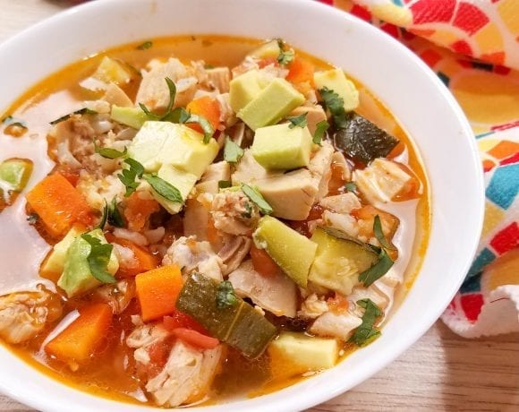 Rotisserie Chicken Soup With Salsa Recipe