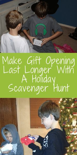Holiday Scavenger Hunt for Christmas Gifts