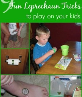 Though the leprechaun is a newer visitor, we are embracing him and having a ball with St. Patrick's Day! Here are some fun Leprechaun tricks to play on your kids.