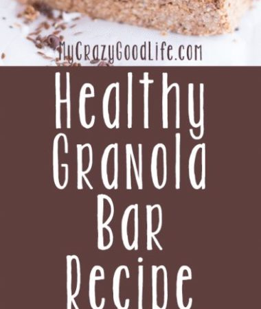 This healthy granola bar recipe is a base recipe that you can customize with your favorite ingredients!
