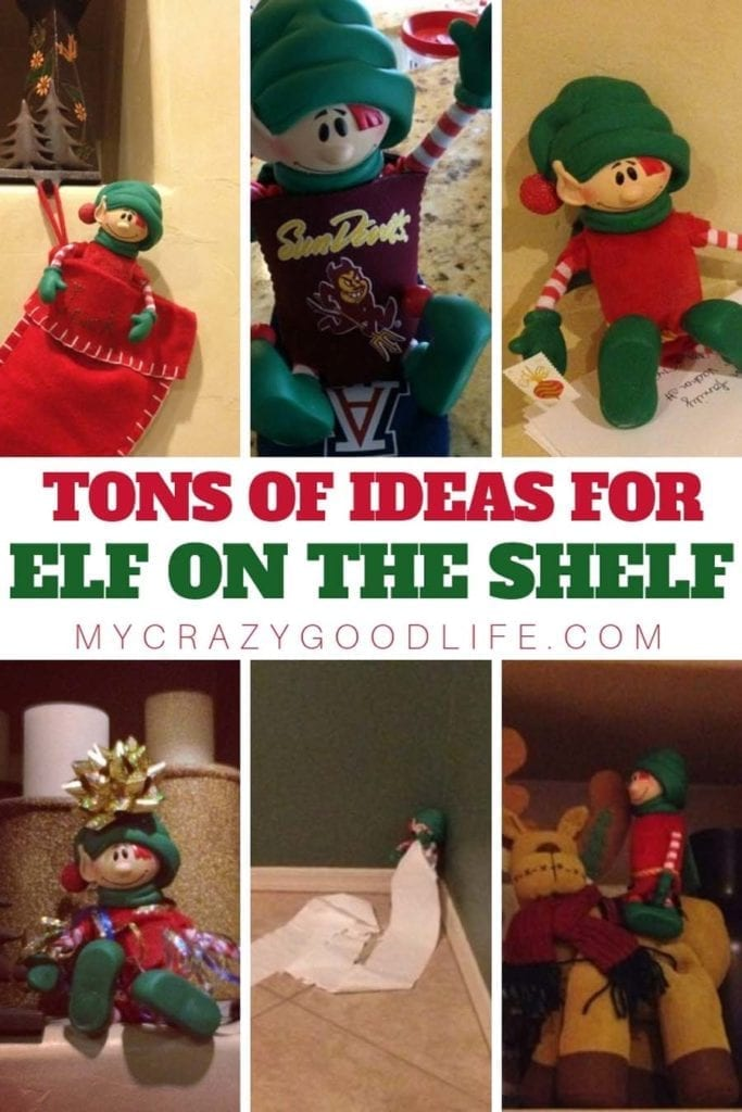 Are you in need of some Elf On The Shelf ideas? We have a few for you, and are inviting you to play along! Check out these fun Elf on the Shelf Ideas. Elf on the Shelf ideas can be tricky if you have smart kids that catch on quick, hopefully these will help! Elf on the Shelf Ideas | Elf on the Shelf Ideas for Kids | Naughty Elf on the Shelf Ideas