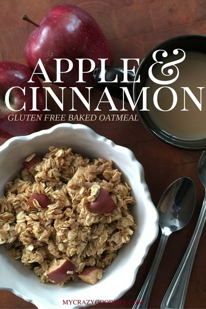 This baked apple cinnamon oatmeal is a delicious fall breakfast recipe! Baked oatmeal is my favorite because it's more like a big muffin than a bowl of oatmeal. Healthy Breakfast Recipe | #oatmeal #healthy