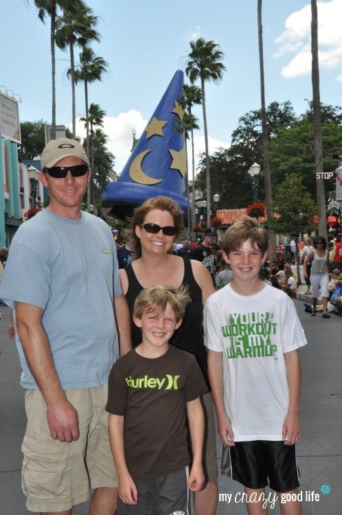 Family pic at Hollywood Studios