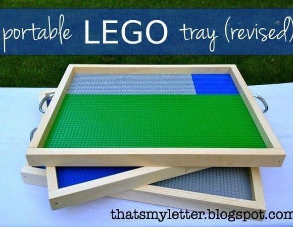 Portable LEGO Tray