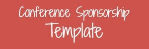 conference sponsorship template for bloggers