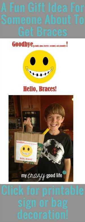 A fun gift idea for someone about to get braces!