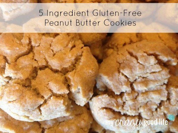 5 ingredient Gluten-Free Peanut Butter Cookies