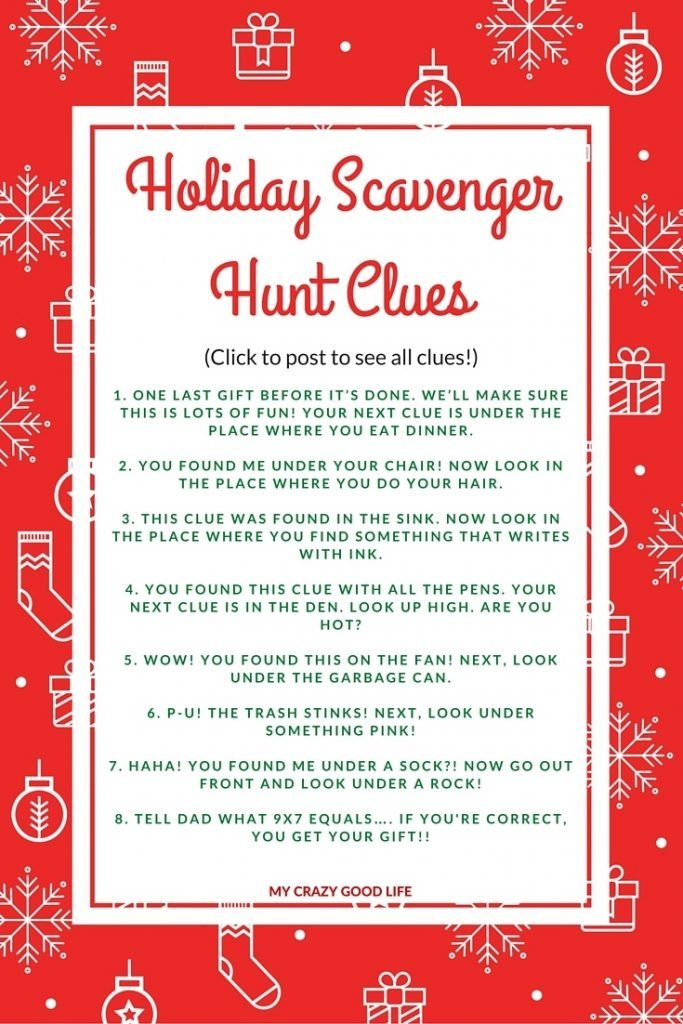 fix as some lawn chairs clue. holiday scavenger hunt clues: great for extending present time! fix as some lawn chairs clue