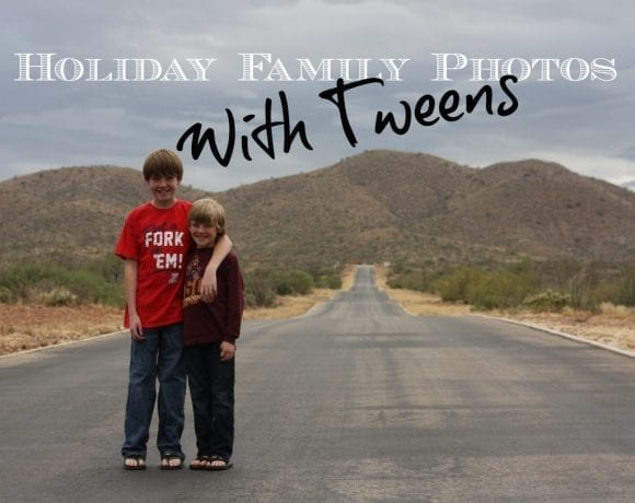 Holiday Family Photos With Tweens: Take 1-9
