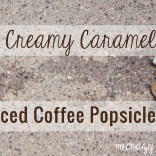 Creamy Caramel Iced Coffee Popsicles