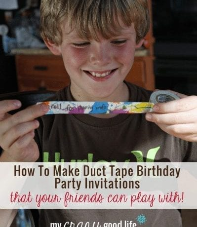 How To Make Duct Tape Party Invitations
