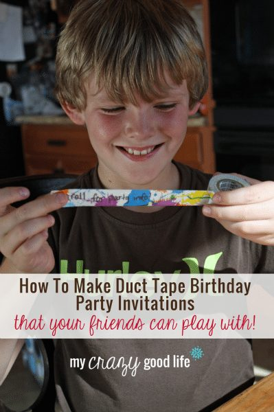 How To Make Duct Tape Birthday Party Invitations