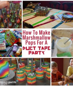 Marshmallow Pops for Duct Tape Party