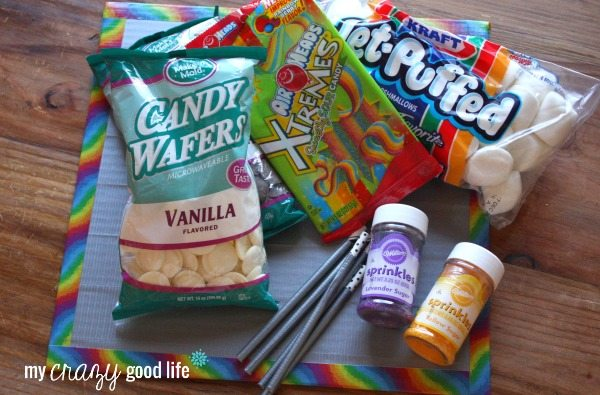 Ingredients for duct tape pops