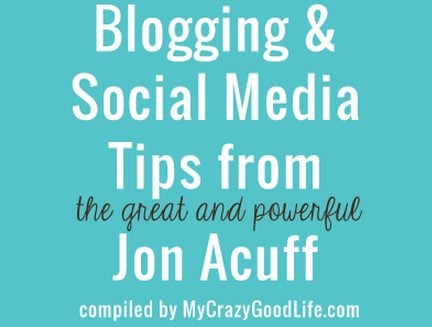 25 social media and blog tips from Jon Acuff