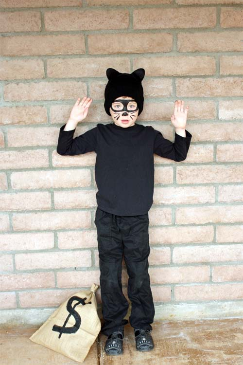 Cat Burglar Costume for Tween Boys