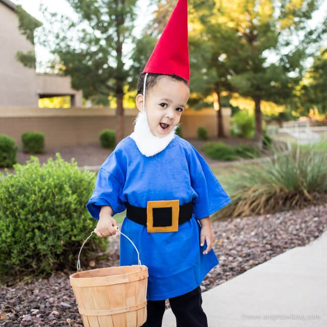 An adorable garden gnome that can be sized for anyone!
