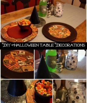 DIY Halloween Table Decorations