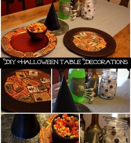 DIY Halloween Table Decorations