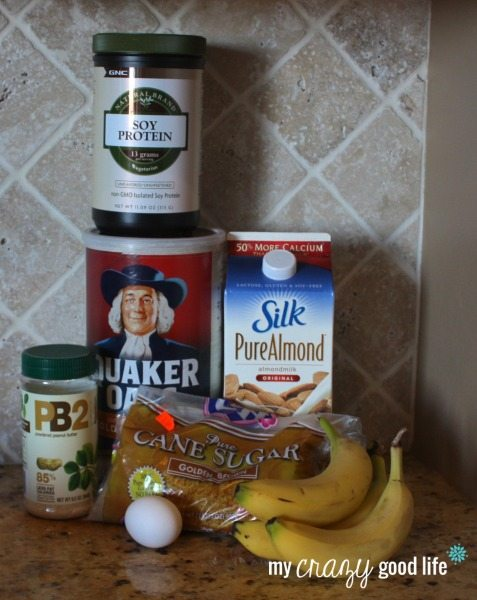 Baked Peanut Butter Banana Oatmeal Ingredients