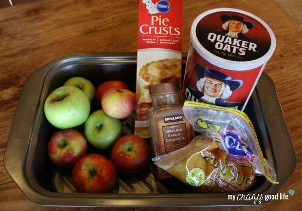 Ingredients for Mini Apple Pie Recipe
