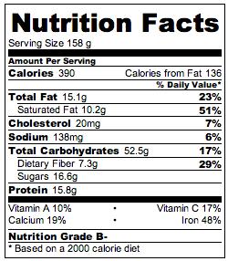 Baked Peanut Butter Banana Oatmeal Nutrition