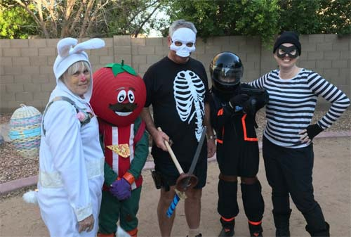 a family in fortnite costumes
