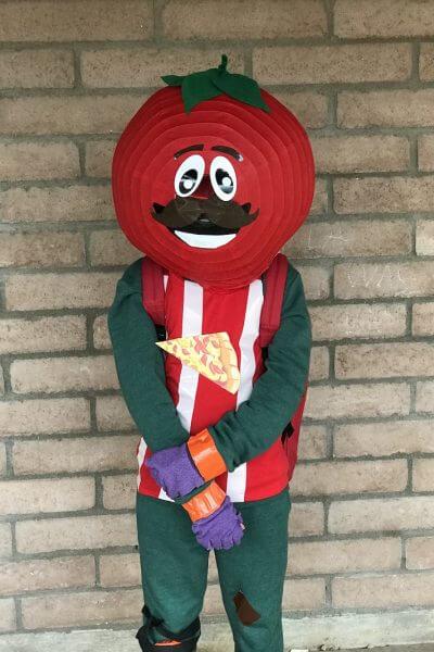 Fortnite costume idea: tomato head