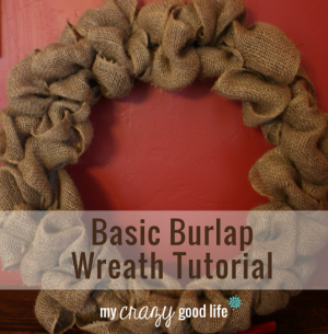 Basic Burlap Wreath Tutorial