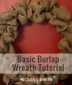 Basic Burlap Wreath Tutorial