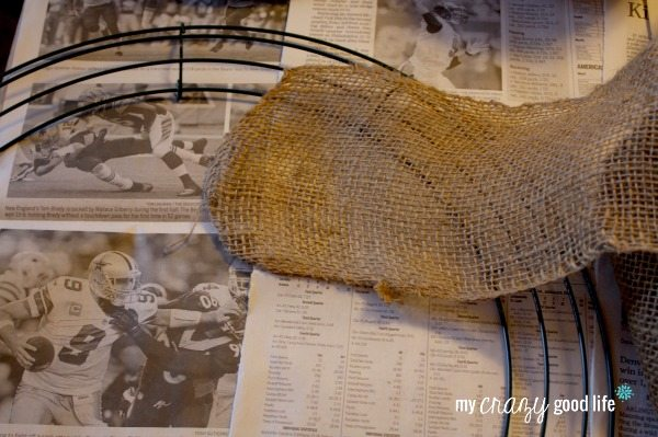 Burlap Wreath Tutorial - Step One