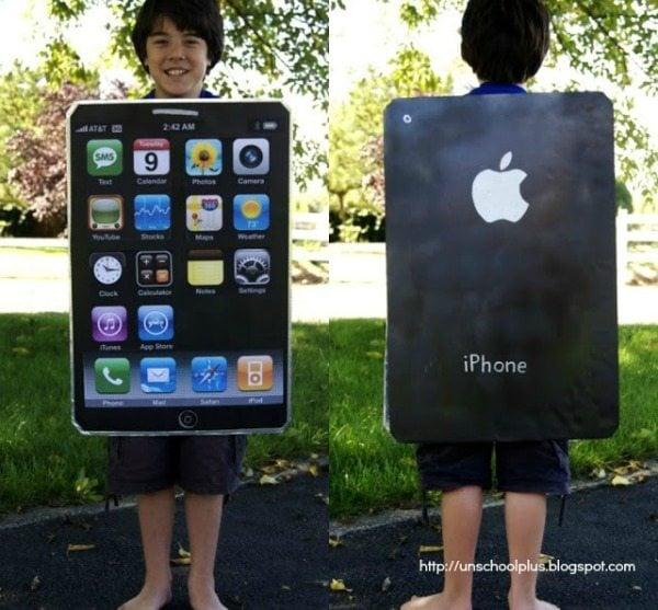 iPhone Costume - DIY Tween Boy Costume