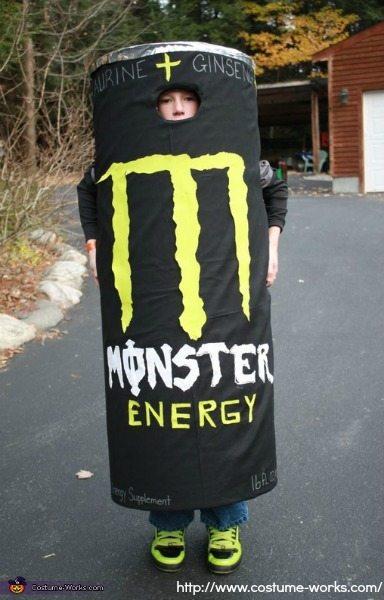 DIY Tween Boy Costume - Monster Energy Costume