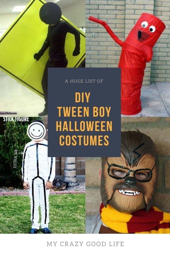 DIY Tween Boy Costume Ideas - My Crazy Good Life