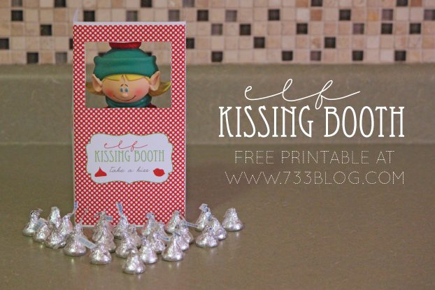 image relating to Elf on the Shelf Kissing Booth Free Printable identify Very simple Elf Upon The Shelf Guidelines - My Mad Fantastic Lifestyle