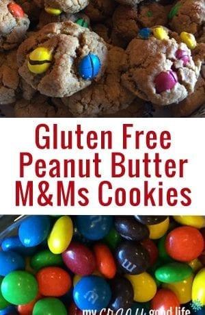 Gluten Free Peanut Butter M&Ms Cookies
