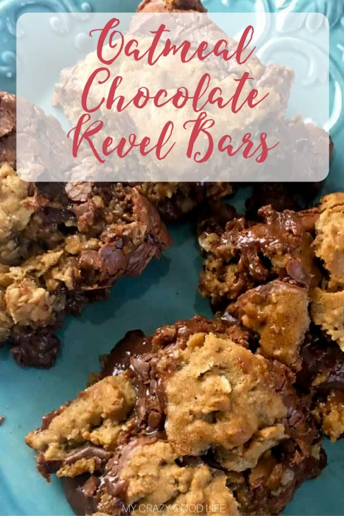 These Chocolate Oatmeal Revel Bars are a Ludlum family favorite! Though not quite your traditional cookie bar, these Revel bars are the perfect Christmas cookie!