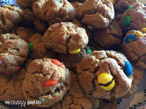 Gluten Free Peanut Butter M&Ms Cookies #shop