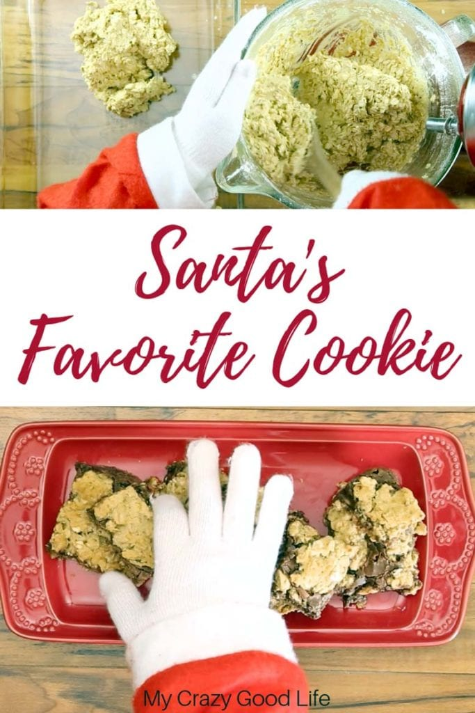 These Chocolate Oatmeal Revel Bars are Santa's favorite cookie at our house! Though not quite your traditional cookie bar recipe, these Revel bars are the perfect Christmas cookie! #cookies #dessert #santa #christmas #holiday