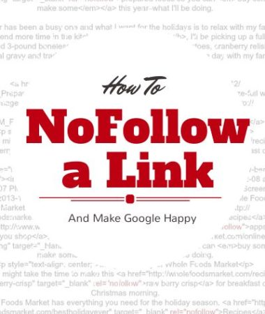 How To NoFollow A Link And Why You Should Be Doing It.