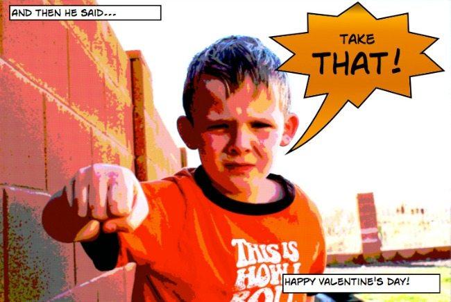 Superhero Valentines For Boys