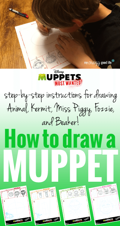 How to draw a muppet: Step by step instructions