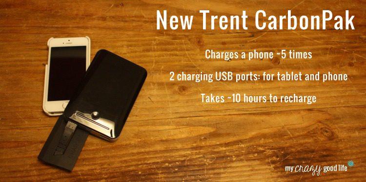New Trent CarbonPak portable charger