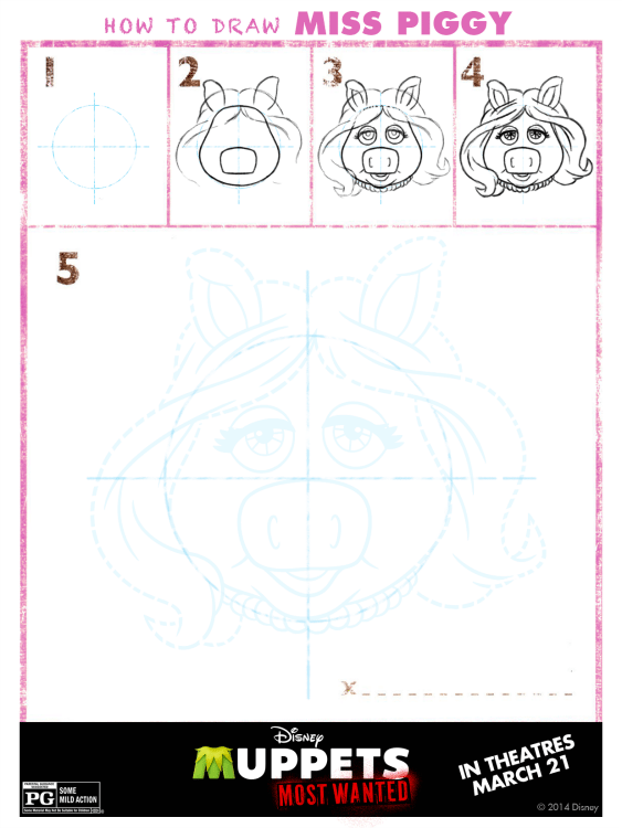 How to draw a muppet