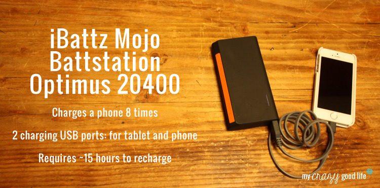iBattz Mojo Battstation Optimus portable battery charger