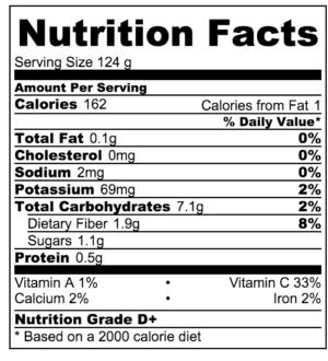 NorCal Margarita Nutrition Info