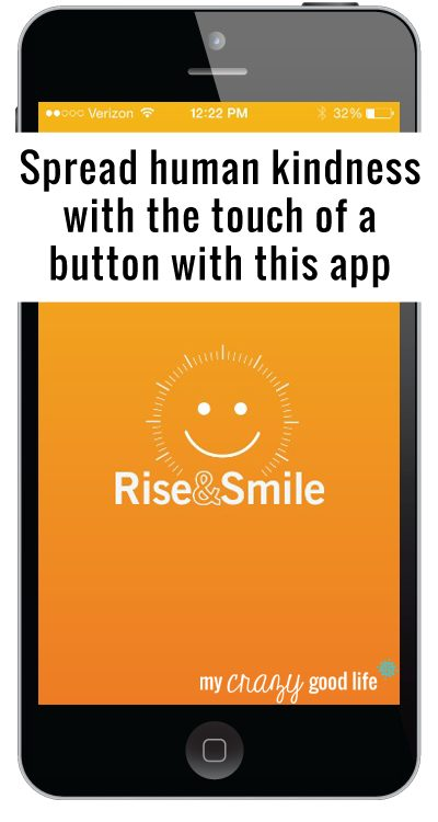 Rise&Smile app spreads human kindness