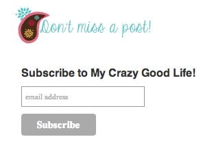 Mail Chimp sign up box