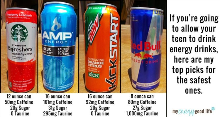 """Best"" Energy Drinks for teens"