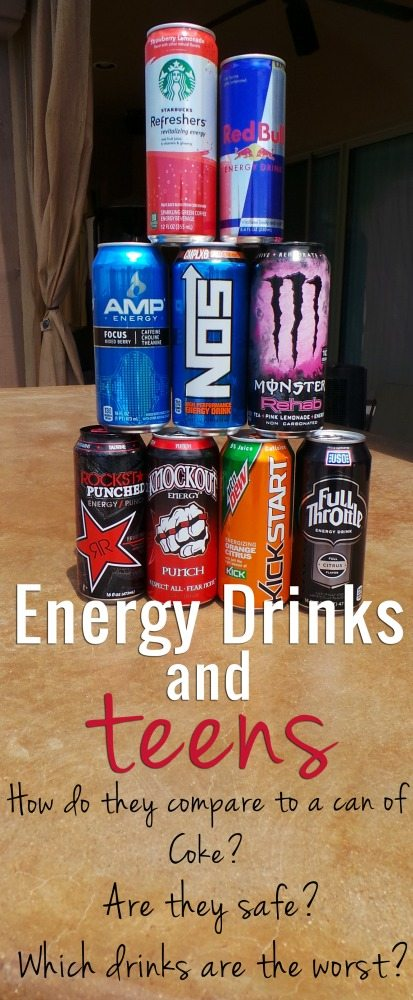 Energy Drinks and Teens: Which ones are the worst?
